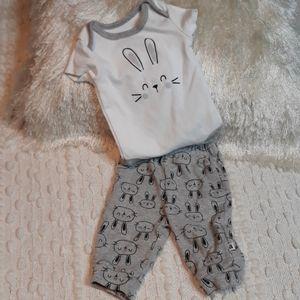 3/25 Absorba Newborn Bunny Set 0-3months